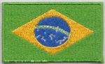 Brazil Embroidered Flag Patch, style 04.